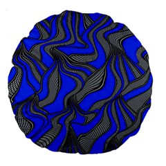 Foolish Movements Blue 18  Premium Round Cushion  by ImpressiveMoments