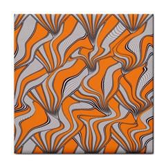 Foolish Movements Swirl Orange Ceramic Tile