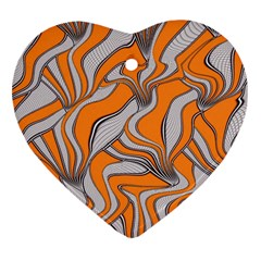 Foolish Movements Swirl Orange Heart Ornament (two Sides) by ImpressiveMoments