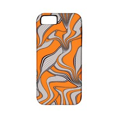 Foolish Movements Swirl Orange Apple iPhone 5 Classic Hardshell Case (PC+Silicone)