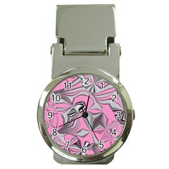 Foolish Movements Pink Effect Jpg Money Clip With Watch by ImpressiveMoments