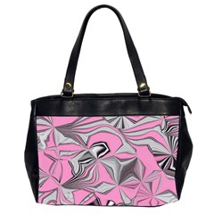 Foolish Movements Pink Effect Jpg Oversize Office Handbag (two Sides)