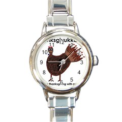 Turkey Round Italian Charm Watch