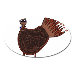 Turkey Magnet (oval) by Thanksgivukkah
