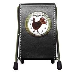Turkey Stationery Holder Clock