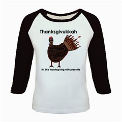 Turkey Women s Long Cap Sleeve T Shirt by Thanksgivukkah