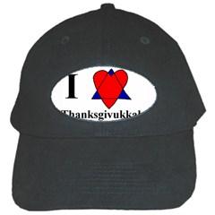 Heartstar Black Baseball Cap by Thanksgivukkah