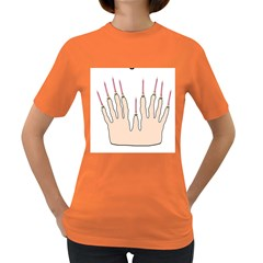 Menorahhand Womens' T Shirt (colored) by Thanksgivukkah