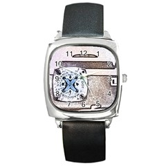 Kodak (7)d Square Leather Watch