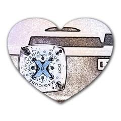 Kodak (7)d Mouse Pad (heart) by KellyHazel
