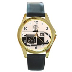 Kodak (3)s Round Metal Watch (gold Rim)  by KellyHazel