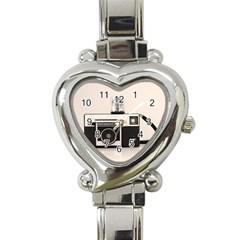 Kodak (3)s Heart Italian Charm Watch  by KellyHazel