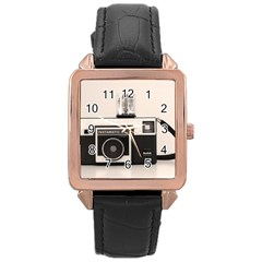 Kodak (3)s Rose Gold Leather Watch  by KellyHazel