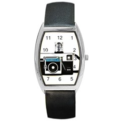 Kodak (3)c Tonneau Leather Watch by KellyHazel