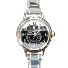 Hit Camera (2) Round Italian Charm Watch by KellyHazel