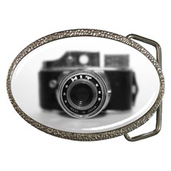 Hit Camera (2) Belt Buckle (oval) by KellyHazel