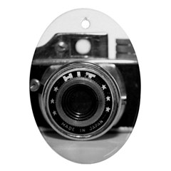 Hit Camera (3) Oval Ornament (two Sides) by KellyHazel