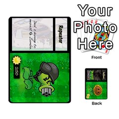 Plants Vs  Zombies By Ajax   Playing Cards 54 Designs   Rc73mtsn0tpi   Www Artscow Com Front - Club4