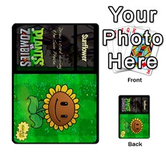 Plants Vs  Zombies By Ajax   Playing Cards 54 Designs   Rc73mtsn0tpi   Www Artscow Com Back