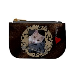 Crazy Cat Mini Coin Purse By Lil    Mini Coin Purse   4pktrgx1t7h3   Www Artscow Com Front