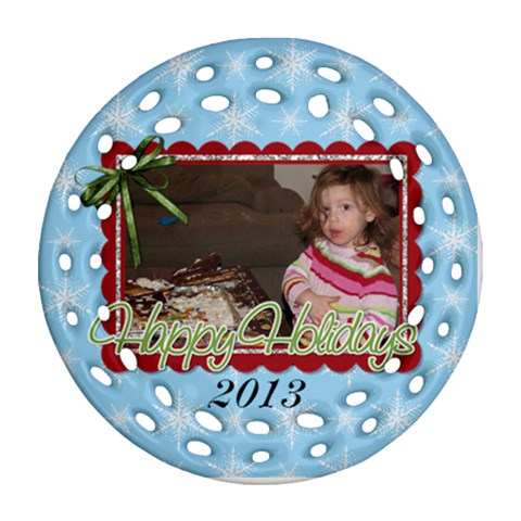 Round Filagree Ornament 1 By Martha Meier   Ornament (round Filigree)   Xnzxgxsqeqp1   Www Artscow Com Front