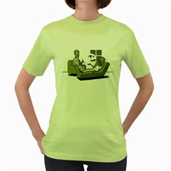 Zombie Therapy Womens  T Shirt (green)