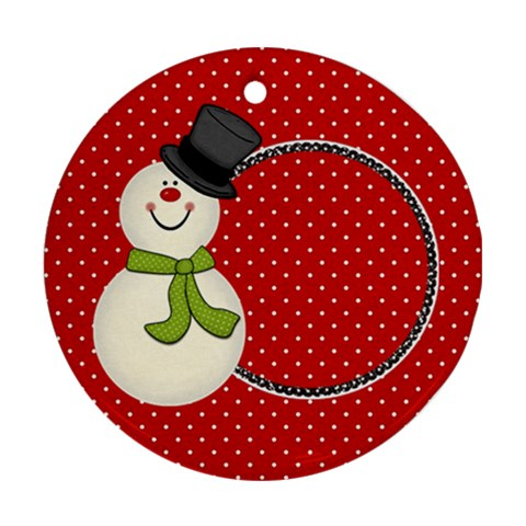 Joyful Joyful Round Ornament 2 By Lisa Minor   Ornament (round)   5vm75bf10bmo   Www Artscow Com Front