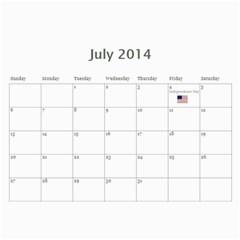 Eddie By Katy   Wall Calendar 11  X 8 5  (12 Months)   8e8j2la2pzbn   Www Artscow Com Jul 2014