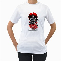 Zombie Destruction Night Womens  T Shirt (white) by Contest1741083