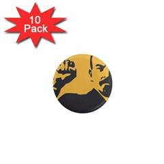 Power With Lenin 1  Mini Button Magnet (10 Pack) by youshidesign