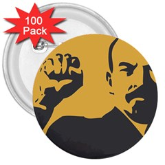 Power With Lenin 3  Button (100 Pack) by youshidesign