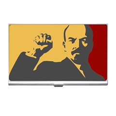 Power With Lenin Business Card Holder by youshidesign