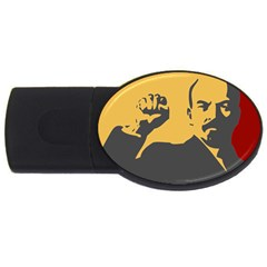 POWER WITH LENIN 2GB USB Flash Drive (Oval) by youshidesign