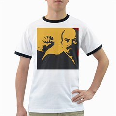 Power With Lenin Mens' Ringer T Shirt