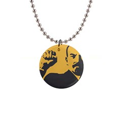 Power With Lenin Button Necklace by youshidesign