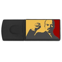 POWER WITH LENIN 4GB USB Flash Drive (Rectangle) by youshidesign