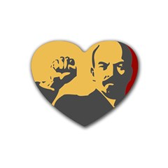 Power With Lenin Drink Coasters (heart) by youshidesign