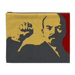 Power With Lenin Cosmetic Bag (xl) by youshidesign