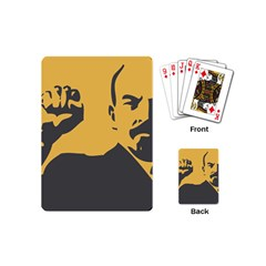 POWER WITH LENIN Playing Cards (Mini) by youshidesign