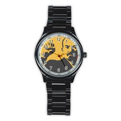 Power With Lenin Sport Metal Watch (black)