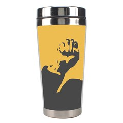 Power With Lenin Stainless Steel Travel Tumbler by youshidesign