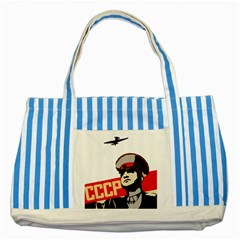 Soviet Red Army Blue Striped Tote Bag by youshidesign