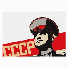 Soviet Red Army Glasses Cloth (large, Two Sided) by youshidesign