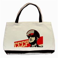 Soviet Red Army Twin Sided Black Tote Bag