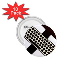 Hammer And Keyboard  1 75  Button (10 Pack) by youshidesign
