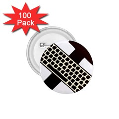 Hammer And Keyboard  1 75  Button (100 Pack) by youshidesign