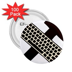 Hammer And Keyboard  2 25  Button (100 Pack) by youshidesign