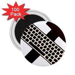 Hammer And Keyboard  2 25  Button Magnet (100 Pack) by youshidesign