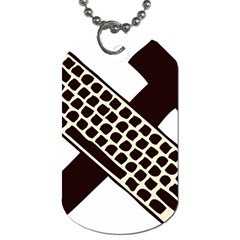 Hammer And Keyboard  Dog Tag (two Sided)  by youshidesign