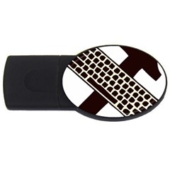 Hammer And Keyboard  2gb Usb Flash Drive (oval) by youshidesign